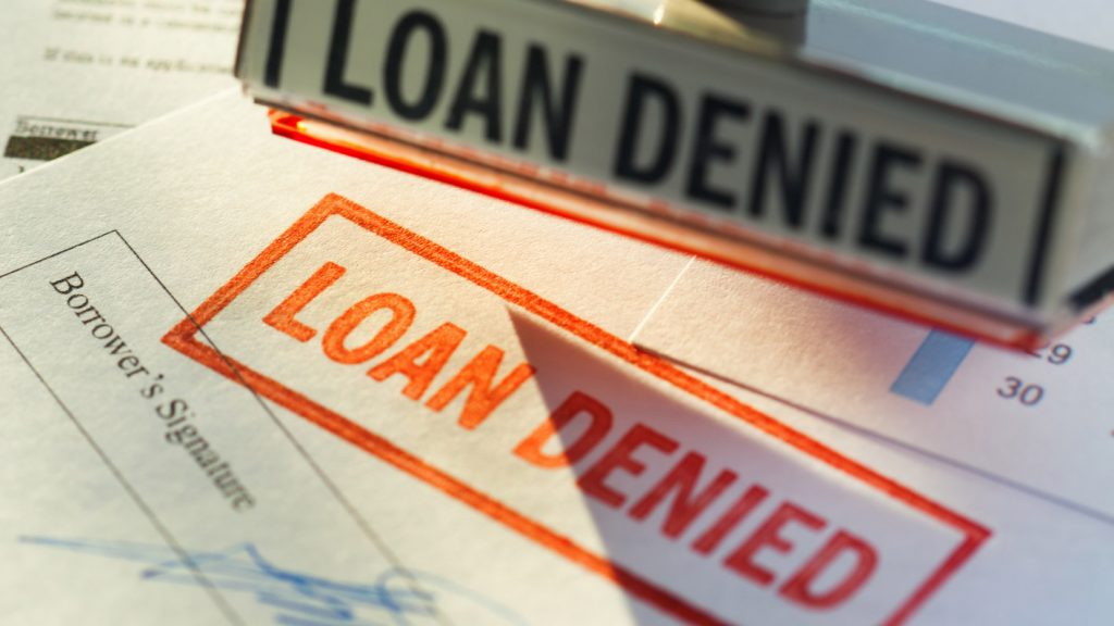 Denied a business loan? Five reasons you could have been denied.